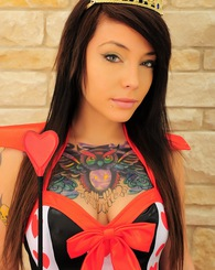 Emma Ink as the Queen of Hearts for Valentine's Day