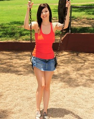 Ivy Snow spends her afternoon naked having some fun at the neighborhood park